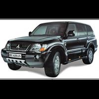 Mitsubishi Pajero 1999-2006 защита переднего бампера металл. MS-A 061013