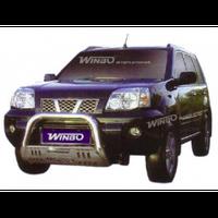 Nissan X-Trail 2001-2007 защита переднего бампера металл.