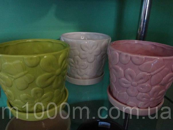 Горшок керамический Микс  К18.003.13