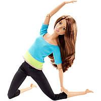 Barbie Made To Move Безграничные движения. Шатенка в голубом топе.