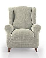 Чехол натяжной на кресло Гламур Беж