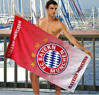 Мужское пляжное полотенце FC Bayern Munchen - №2371, Цвет красный