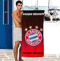 Мужское пляжное полотенце FC Bayern Munchen - №2374, Цвет разноцветный