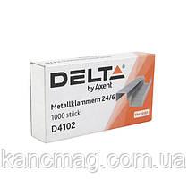 Скобы для  степлера 24/6  Delta 4102  1000шт