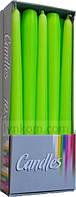 Свечи пасхальные конические салатовые 24,5 см (10 шт)