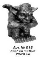 Садово-парковая скульптура «Гоблин» сидячий Н=27 см