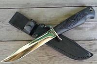 Нож нескладной Финка-3, клинок снабжен долами и имеет фальшлезвие
