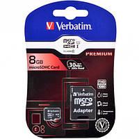 Карта памяти VERBATIM CARD microSDHC 8Gb 44081 (CLASS 10)