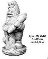 Садово-парковая скульптура «Гном с морковкой» Н=48 см