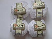 Турецкая летняя пряжа для вязания YarnArt  Summer (саммер)  хлопок с вискозой   03 белый