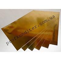 Подложка КВАДРАТ, золото/серебро, 40*40см