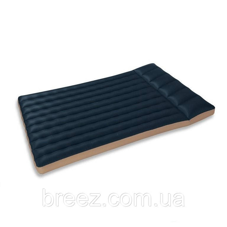 Полуторный тканевый надувной матрас Intex 68799 черно-коричневый 191 х 127 х 24 см