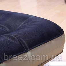 Полуторный тканевый надувной матрас Intex 68799 черно-коричневый 191 х 127 х 24 см, фото 2