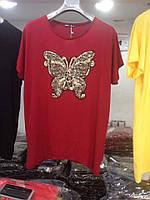 Женские футболки с бабочкой Размер батал