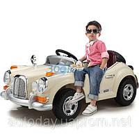 Детский электромобиль Mercedes Benz 128 RETRO - купить оптом детские электромобили Бежевый