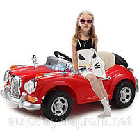 Детский электромобиль Mercedes Benz 128 RETRO - купить оптом детские электромобили Красный