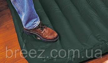 Надувной матрас одноместный Intex 66950 зеленый, со встроенным ножным насосом 191 х 76 х 22 см, фото 3