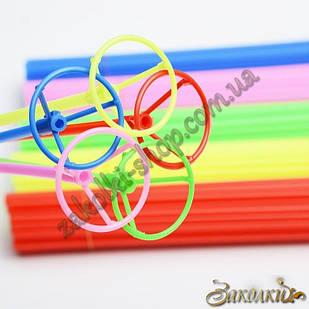 Комплект палочка насадка с зажимом-клипсой, держатель для фольгированных воздушных шаров, длина палочки: 400мм