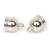 Концевик-колпачок  для бисерных жгутов, 10 мм, цвет серебро, 1 пара, фото 2