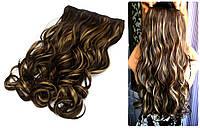 Волосы на заколках тресс прядь волна №4Н27  55см