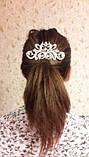 """Гребінь """"Ніжність"""" з перлами під срібло у зачіску, фото 2"""