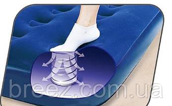 Надувной полуторный матрас Bestway 67224 синий со встроенным ножным насосом 188 х 99 х 22 см, фото 3