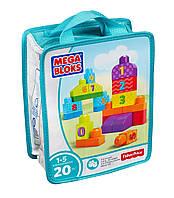 Mega Bloks Учимся считать 20 деталей First Builders 1-2-3 Count 20 pcs, фото 1