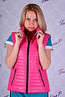 Жилетка SL-6373 №11 (розово-черный), фото 1