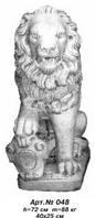 Садово-парковая скульптура «Лев со щитом» (левый) Н=72 см