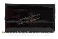 Стильный небольшая качественная лаковая женская каркасная сумочка клатч с ремешком с цепи  art. A2081 черная