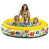 Детский надувной бассейн Intex 58449, Круг, 3 кольца, волночки, 168-41см