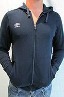 Мужская олимпийка Umbro (540214) синяя с капюшоном код 137в
