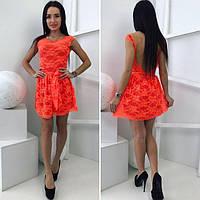 Платье короткое мини декольте на спине