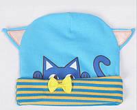 Детская шапочка с ушками .