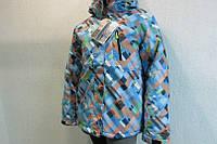 Куртка женская Azimut 2257-512 голубая с оранжевым код 724а