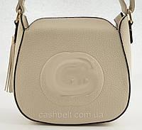 Женская небольшая стильная сумочка LITTLE PIGEON art. F1020 бежевая