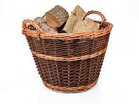 Корзина плетеная на дрова для камина.