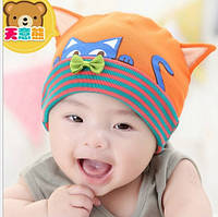 Детская шапочка кошечка с ушками .