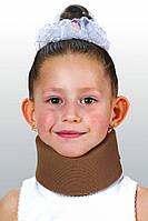 Бандаж для шеи Детский Мягкий шина Шанца ОРТЕЗ-2Д Светло-бежевый цвет