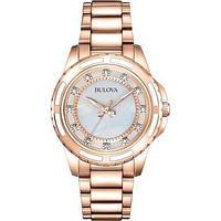 Женские наручные часы  с бриллиантами Bulova 98P141
