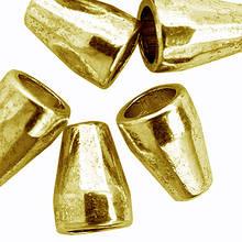 Конус Шапочки для Бусин, Металлические, Цвет: Античное Золото, Размер: 11х8мм, Отверстие 5.5мм и 2.5мм, (УТ0010100)