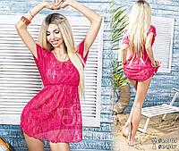 Пляжное платье - парео 3239 малина