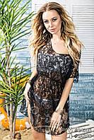 Пляжное платье - парео 3239 черное