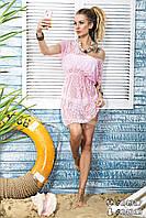 Пляжное платье - парео 3239 Нежно - розовый
