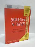 НЗО Грамота НЗО Українська мова та література 2016 МІНІ конспекти для підготовки до НЗО Авраменко