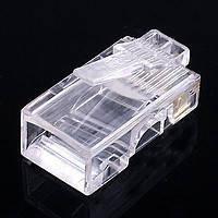 Коннектор RJ45 прозрачный (упаковка-1000шт.) GOLD quality A+!Акция, фото 2