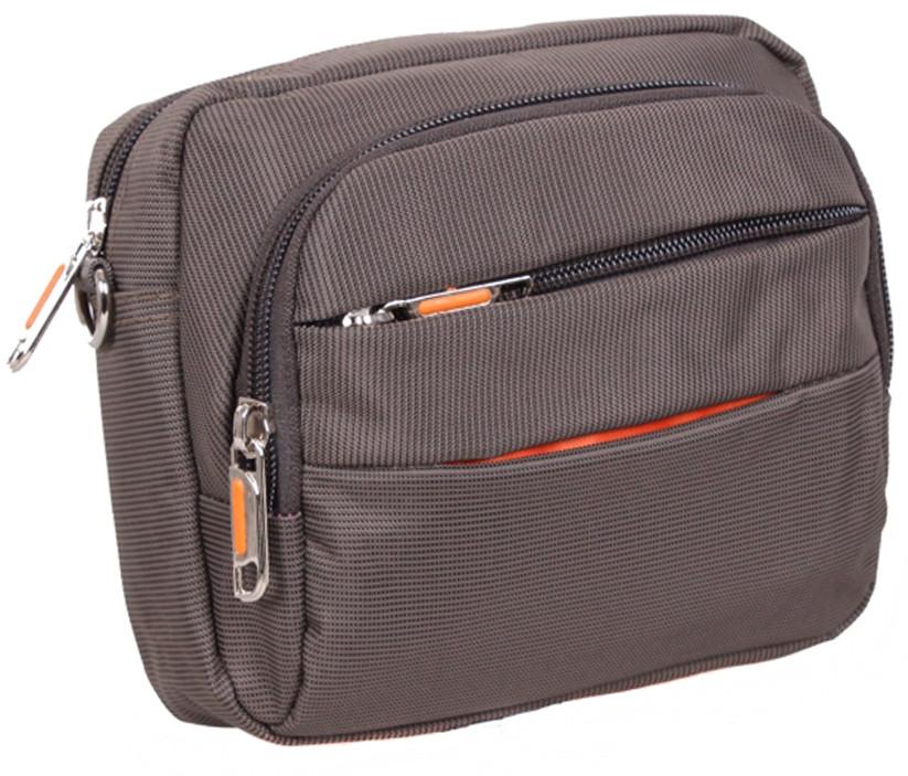 Мужская сумка через плечо полиэстер S6338-1GREY серый