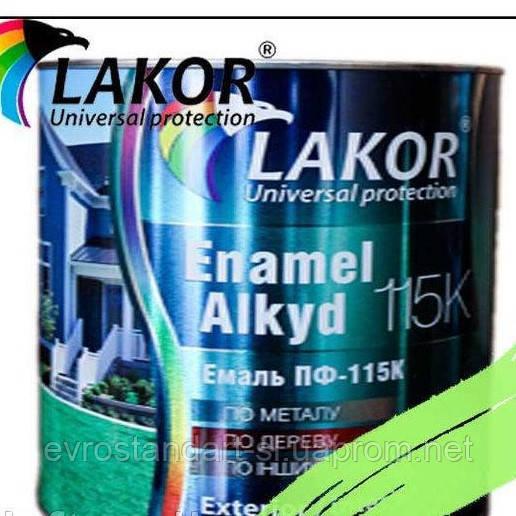 Эмаль Лакор ПФ-115 К фисташковая 0,9кг.