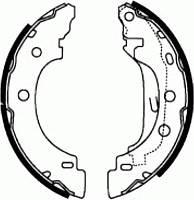 Колодки тормозные задние 203х38 мм Kangoo 97- PROFIT - 5001-0583