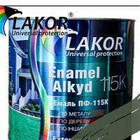 Эмаль Лакор ПФ-115 К хаки 0,9кг.
